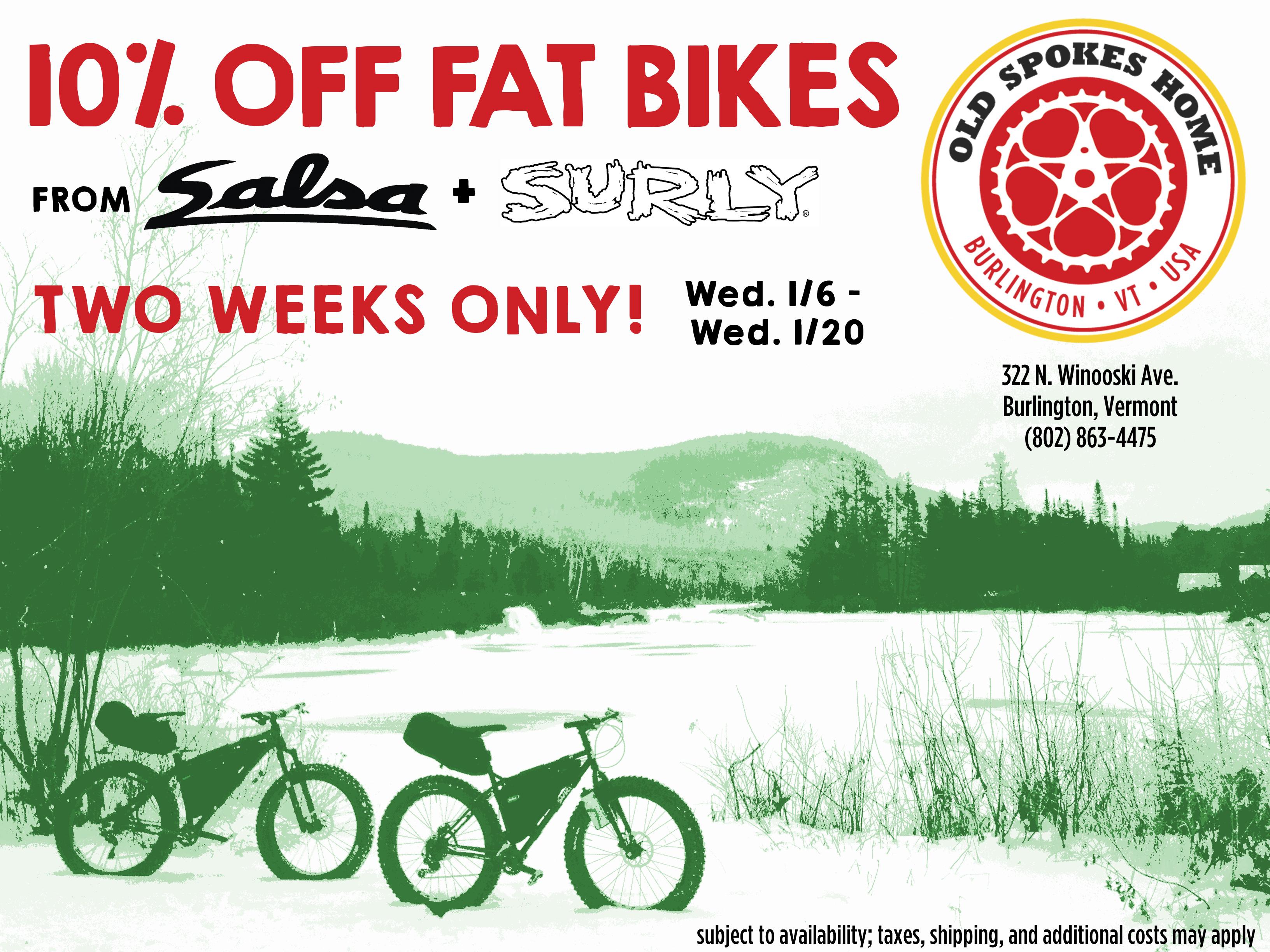 10% Off Fat Bikes